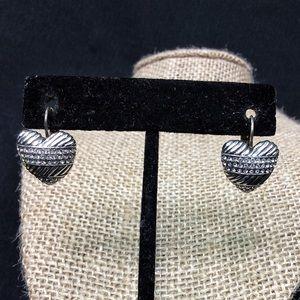 Vintage Silver Brighton Heart Earrings - Beautiful